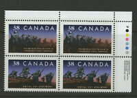 CANADA #1250ii Regiments INSCRIPTION BLOCK vfnh