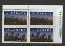 CANADA #1250ii Regiments INSCRIPTION BLOCK vfnh