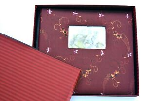 Make Your Mark myx Large Photo Album 12x12 Memory Embroidered Cloth Book Family