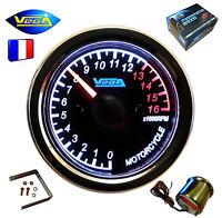 ► Manomètre VEGA® Compte-tours Moto Bateau 0-16000 trs étanche inoxydable 12V