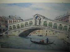 ZANETTI  ZILLA Vittore, *1864 Rialtobrücke in Venedig