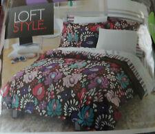 Loft Style Twn 5 Pc Bedding In Bag Comforter Sheets Sham Vintage Blossom New