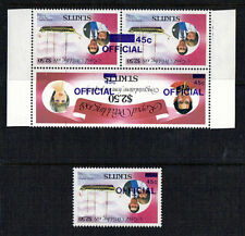 St KITTS 1981 ROYAL WEDDING 45c OFFICIAL WITH INVERTED OVERPRINT MNH
