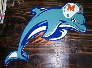 Miami Dolphins  3D wood Sign. Wall decor. Man cave.  Fast Shiping.  Hand made.