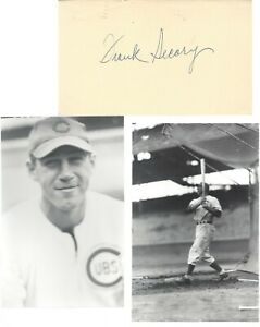 FRANK SECORY, 4 YEAR MLB AND 1952-70 NL UMPIRE, SIGNED GPC WITH PHOTOS
