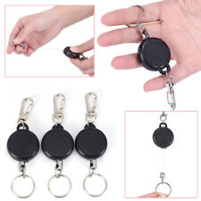 Retractable Key Chain Reel Steel Cord Recoil Belt Ring Badge Pass ID Card9HK