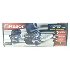 Razor Turbo Jetts Electric Heel Wheels Dlx Blue with Lighted Wheels - Great Gift