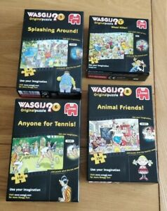 Wasgic 3 x 150  & 1x 54 piece Jigsaw Puzzles CHECKED COMPLETE.IDEAL FOR HOLIDAY