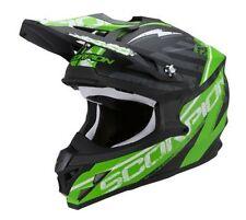 Casques verts Scorpion moto pour véhicule