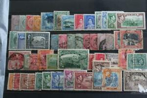 JAMAICA Collection of 65+ Stamps QV to early QEII used and some Mint