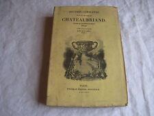 Livre de 1837 Œuvres complètes de CHATEAUBRIAND Tome 23 Les Natchez tome 2
