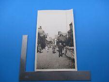 1925 Clovelly England Street People Mule Photo B&W Antique Orig Circa 1925 L363