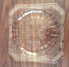 "Vintage Jeannette Glass Adam Pattern 7 3/4"" Salad Plate, Pink, Depression Glass"
