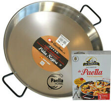 Induction & Vitroceramic PATA NEGRA 34cm Polished Steel Paella Pan +Spanish GIFT