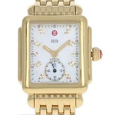 Michele Deco Ladies Watch - Stainless Gold Plated Quartz 2Yr Wnty MW06V00A9046