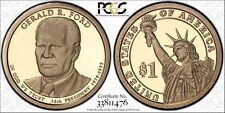 2016-S $1 GERALD FORD IN PCGS 69-DCAM SHELD W-TRUE-VUEW LAST YEAR FOR THE SERISE