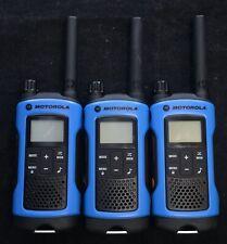 3X USED Motorola T461 AA FRS/GMRS 2-Way Radio Walkie Talkie iVOX QT Weather