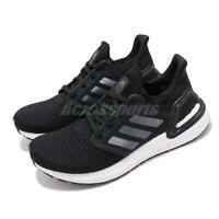 adidas UltraBOOST 20 W Black Silver White Womens Running Shoes Sneakers EG0714