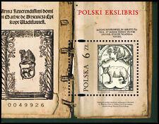 Polska Poland 2017 Fi BLOK 313 Mi BLOCK 271 Polski ekslibris