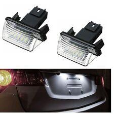Lighting Plate LED Citroen C5 1 DS4 & Crossback Saxo Spacetourer Xsara White