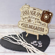 Instagram Wedding Photo Tagging Personalised Plaque / Sign
