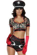 New FORPLAY CAMO M/L Halloween army military soldier costume stripper women's