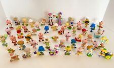 Strawberry Shortcake Lot of 50 Minis Miniatures Pvc Plum Pudding Vintage + Case