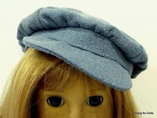 "BLUE Denim NEWSBOY DOLL CAP HAT fits 18"" AMERICAN GIRL Doll Clothes Accessory"
