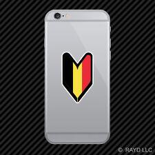 Belgian Driver Badge Cell Phone Sticker Mobile Belgium BEL BE