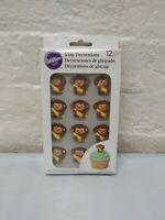 Monkey with Banana Royal Icing Decorations 12 ct from Wilton 6671 NEW