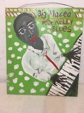 Vintage Outsider Art Painting Big Maceo Sam Doyle Style Signed Samuel A Blues