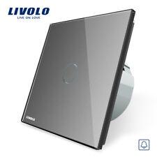 Touch Taster Impulsschalter 230V Grau Glas 2 JAHRE GARANTIE!! Livolo VL-C701B-15