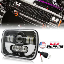7x6 5x7 120W LED Headlight Hi/Lo Beam for Jeep Wrangler YJ Cherokee XJ 6052 6053