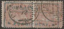 India Used Pondicherry 1872 QV 1a Pair 111 Duplex Postmark POULAIN Freres Cachet