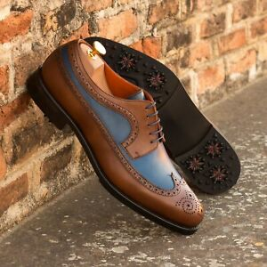 The Longwing Blucher Golf Shoe Model 3965 from Robert August w/ Free Shoe Trees