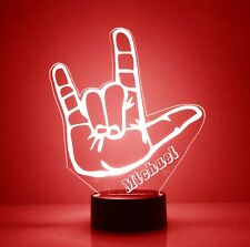 Love Hand LED Acrylic Night Light - Personalize Free, Custom Gift, With remote