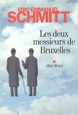 ERIC-EMMANUEL SCHMITT LES DEUX MESSIEURS DE BRUXELLES + PARIS POSTER GUIDE