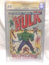 Incredible Hulk #152 CGC 8.0 Signed by Gary Friedrich Herb Trimpe Dick Ayers
