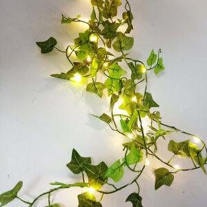 LED Leaves Ivy Leaf Garland Fairy String Lights Lamp Xmas Party Garden Decor UK
