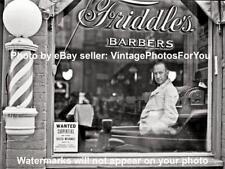 Old/Antique '41 Virginia Barber Pole Shop Hair Cut Hot Razor Shave Photo/Picture