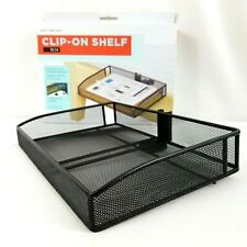 Mesh Clip On Shelf Attaches Bed Frame Nightstand Desk Dorm College Kids Room NEW