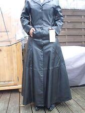 Hard Leather Stuff Lederoptik Mantel Gr 34-36, bodenlang  Gothik Punk Batcave