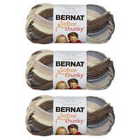 Bernat Softee Chunky Ombres Yarn 80G/2.8OZ Super Bulky Yarn - 3 Pack