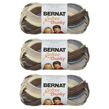 Bernat Softee Chunky Ombres Yarn 80G/2.8OZ Super Bulky Yarn - 3 Pack