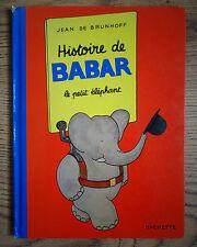 Histoire de Babar le petit éléphant, de Jean de Brunhoff, Hachette 1949