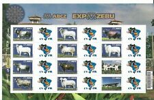 BRAZIL 2009 ABCZ EXPO - ZEBU FAUNA, ANIMALS 12 VALUES + LABELS MAP EMBLEM, MNH