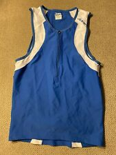 Men's Team Zoot Triathlon Tri Singlet Blue Cycling Jersey Medium M
