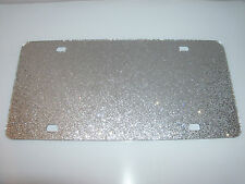 "Blank Silver Sparkle Acrylic License Plates 12"" x 6"" (wholesale)"