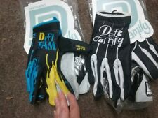 LOT 2 PAIRS DEFT FAMILY GLOVES YELLOW BLUE & BLACK WHITE adult ATV S, M, L