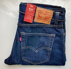 *NEW* LEVI's Original Jeans - 511 Slim Fit - 04511-1542 - W34 L34 - dunkel blau